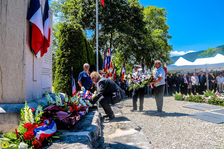 Commémoration du 73 eme anniversaire du  11 juin 1944 St Julien du Verdon
