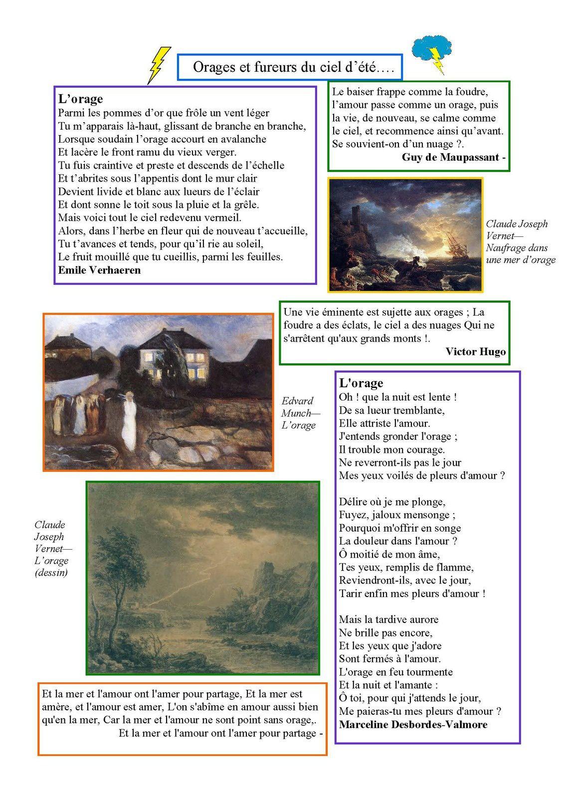 La Page poésie d'Odile  : orages