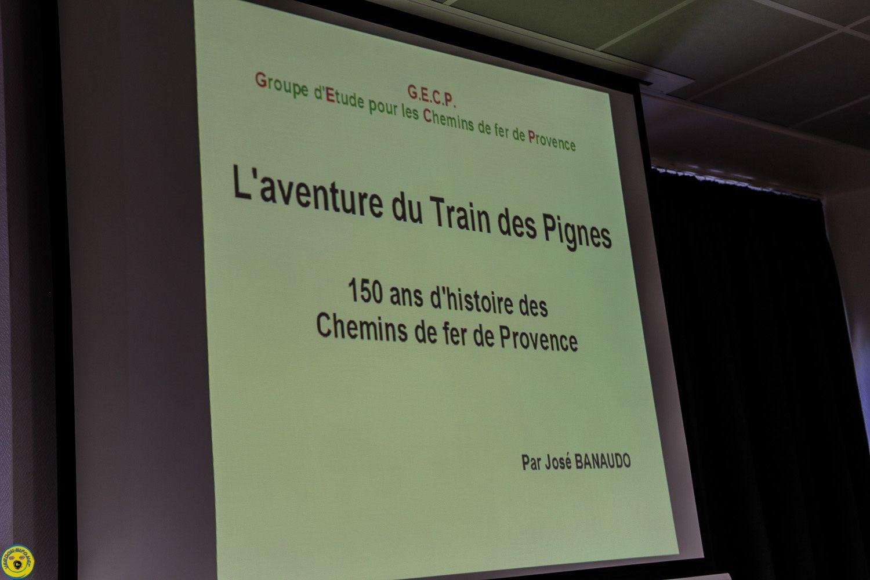 conférence par José Banaudo, 125 ans d'histoire  &quot&#x3B; L'Aventure du Train des Pignes&quot&#x3B;,