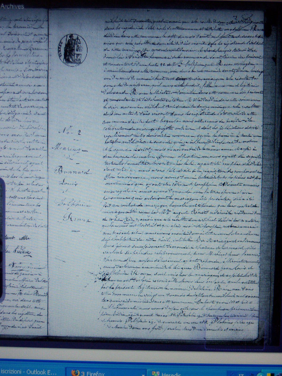 acte de mariage de Jean Louis Bonnard et Delphine Roux nés à Aspres qui furent les premiers à partir en Algérie... leur fille Marie Louise née en 1875 à  Aspres est ma G-M                                    se