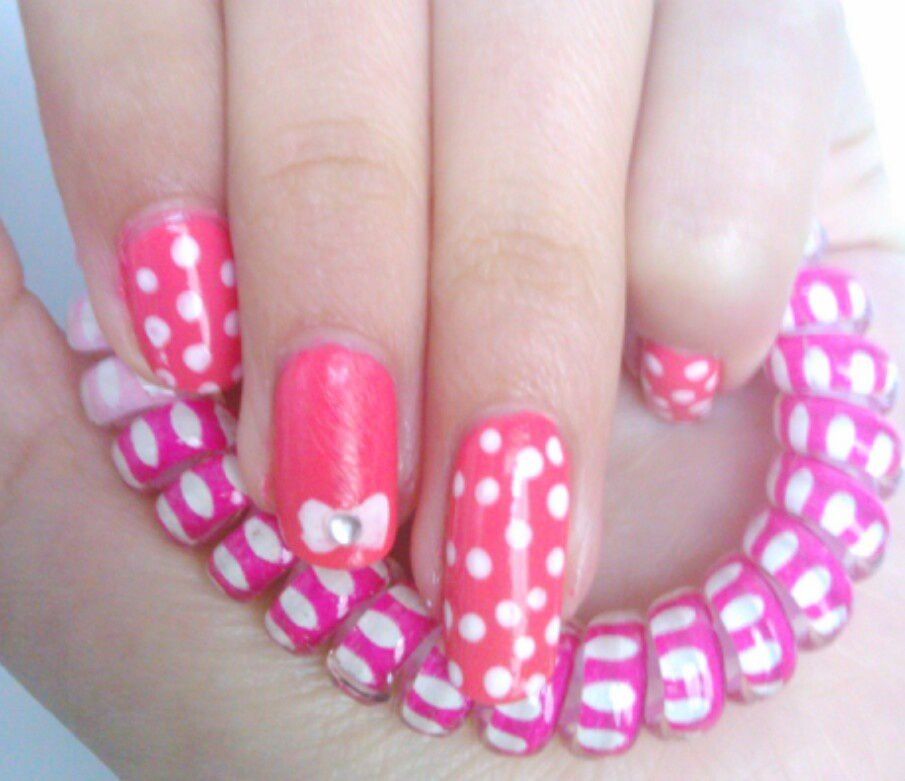 Nail art super cute !