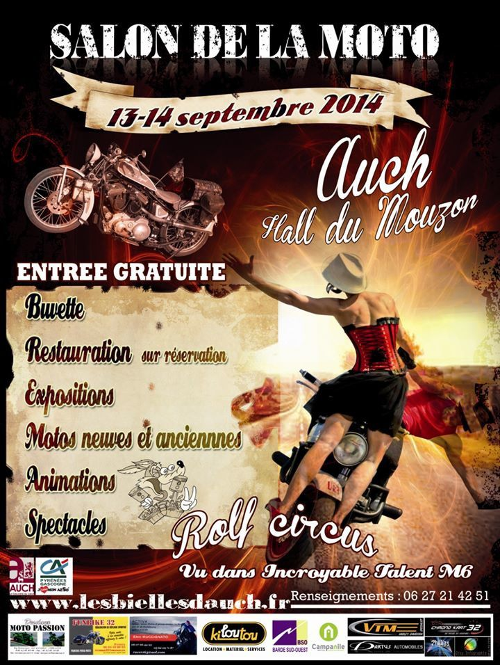 Salon de la moto à Auch les 13 et 14 Septembre