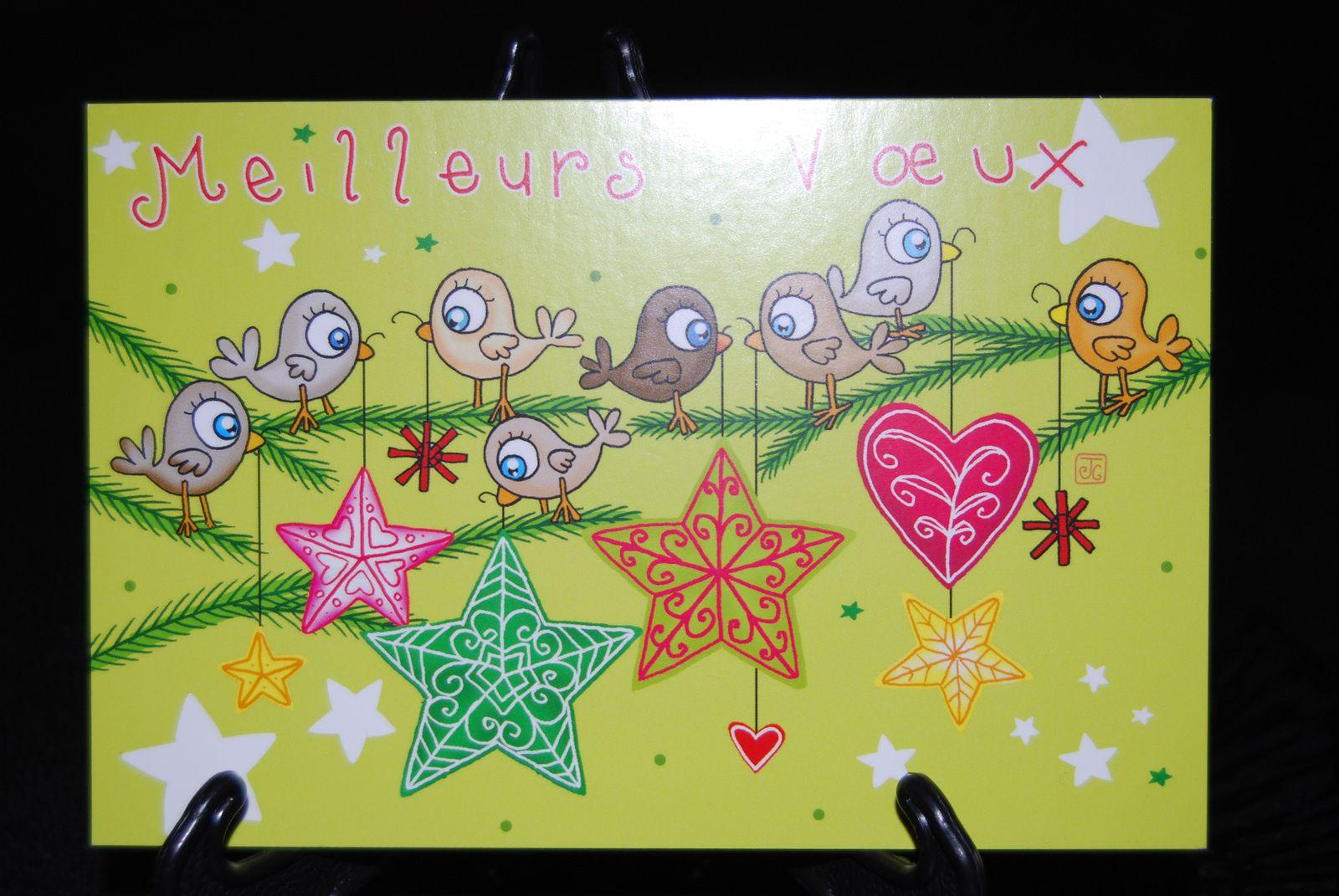 Des cartes de vœux ...