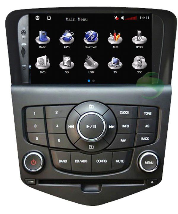 chevrolet cruze lecteur dvd de voiture gps autoradio tv bluetooth usb sd ipod voiturestereo. Black Bedroom Furniture Sets. Home Design Ideas