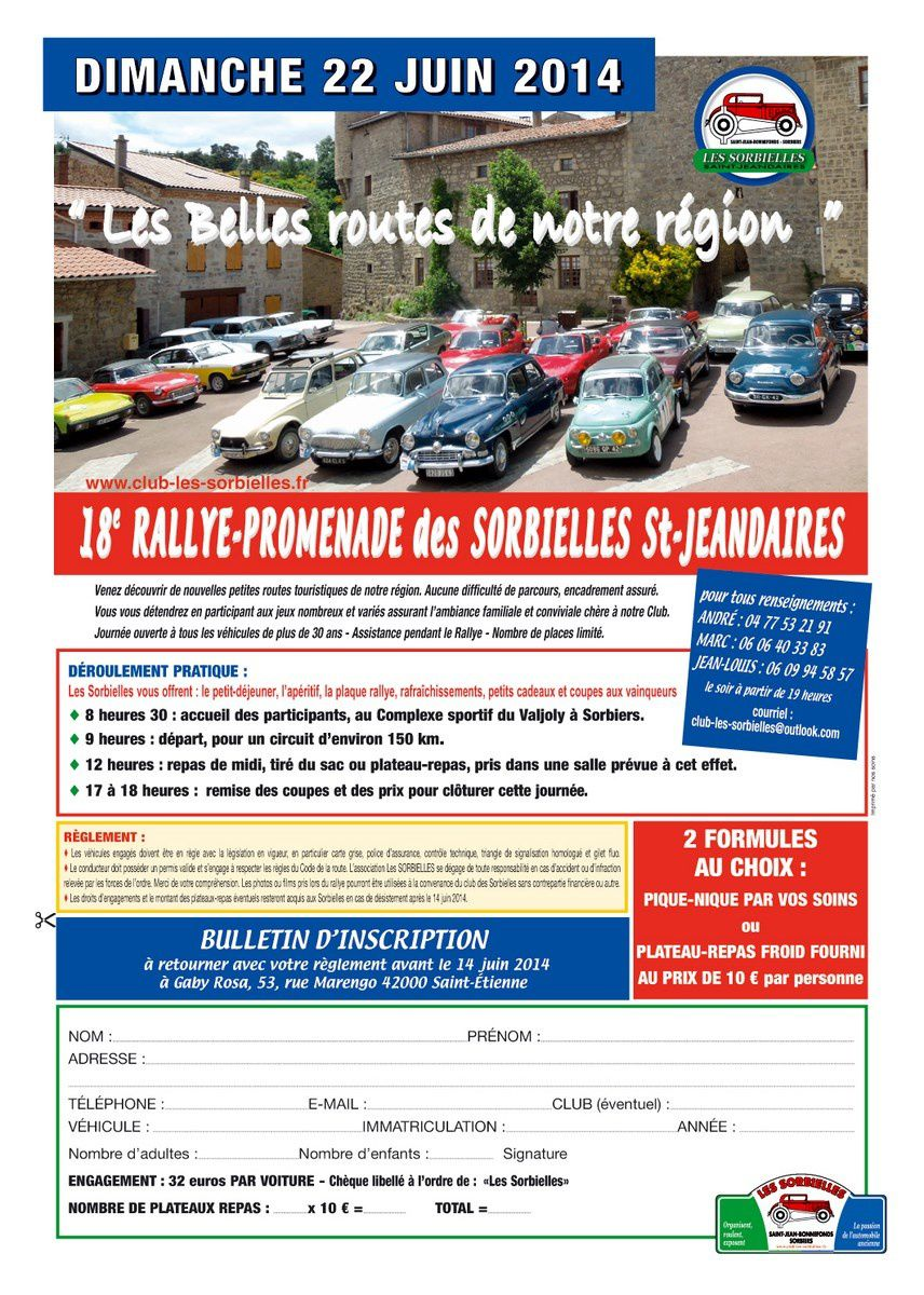 Bulletin d'inscription Rallye 2014