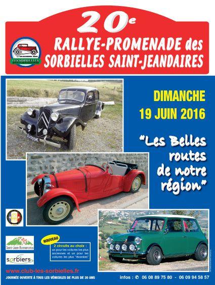 20 ème RALLYE des SORBIELLES agrément FFVE n°A-16-045