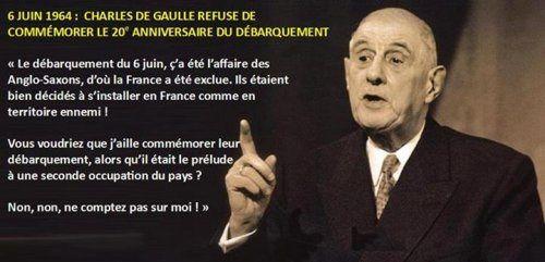L'histoire vraie : le 6 juin 1964, Charles de Gaulle refusait de commémorer « le débarquement des anglo-saxons »
