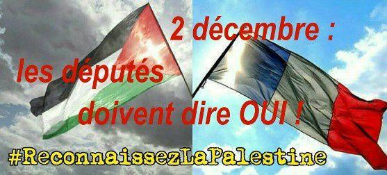 Reconnaissance de l'Etat palestinien : F. Hollande doit respecter la volonté du peuple portée par le parlement !