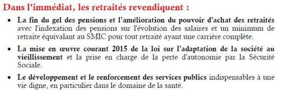 17 mars : Mobilisation nationale unitaire des retraités