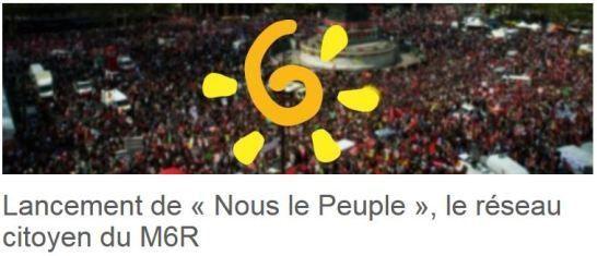 M6r.fr : lancement du réseau citoyen « Nous le Peuple »