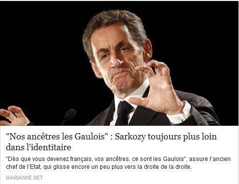 """Alexis Corbière porte parole de Jean-Luc Mélenchon : """"Avant la droite française se réclamait de De Gaulle, maintenant c'est uniquement de la Gaule.... Avec sa gauloiserie caricaturale, Sarkozix croit qu'en buvant la potion marine il sera plus fort dans le Combat des chefs des primaires"""""""
