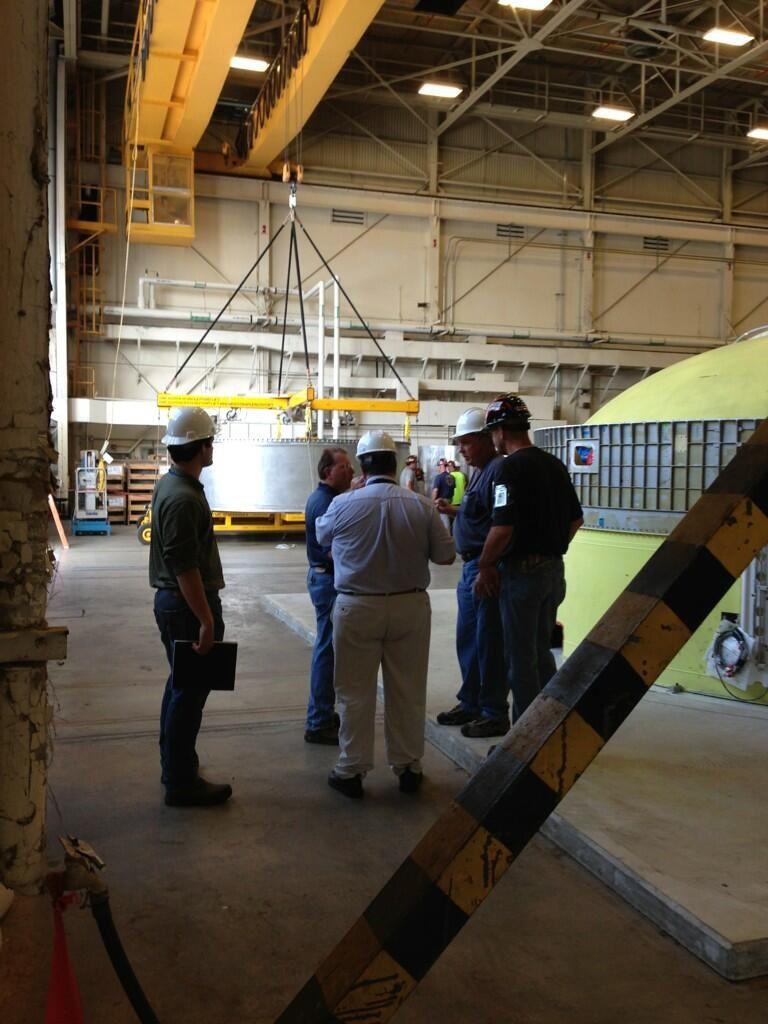 Juin 2013 - Test de connexion entre la Delta IV Heavy et l'adaptateur.