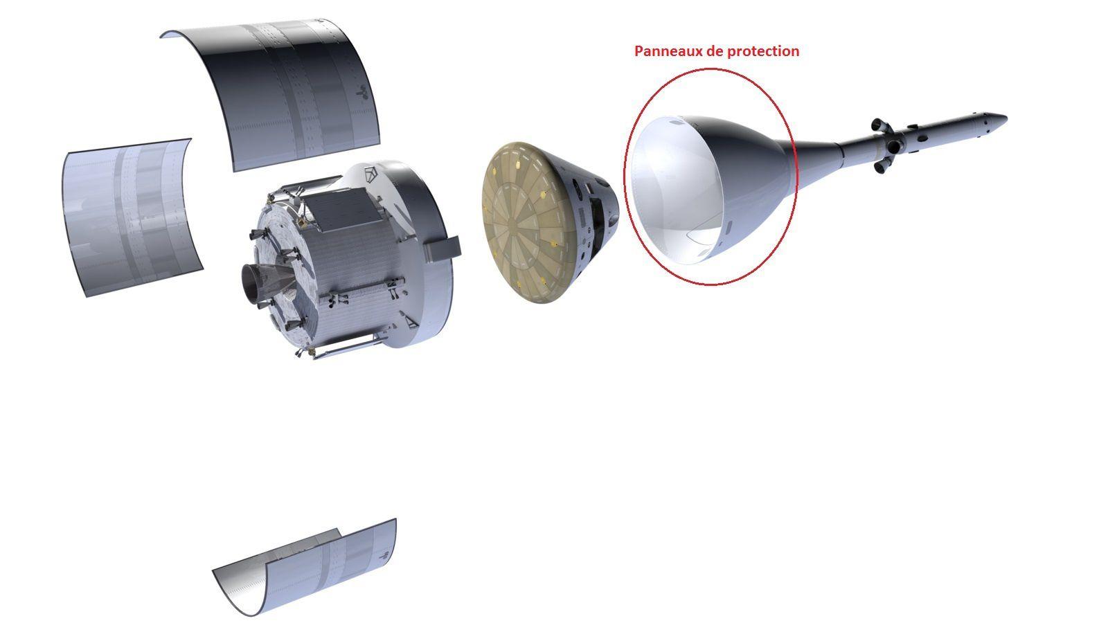Livraison des panneaux de protection du module Orion