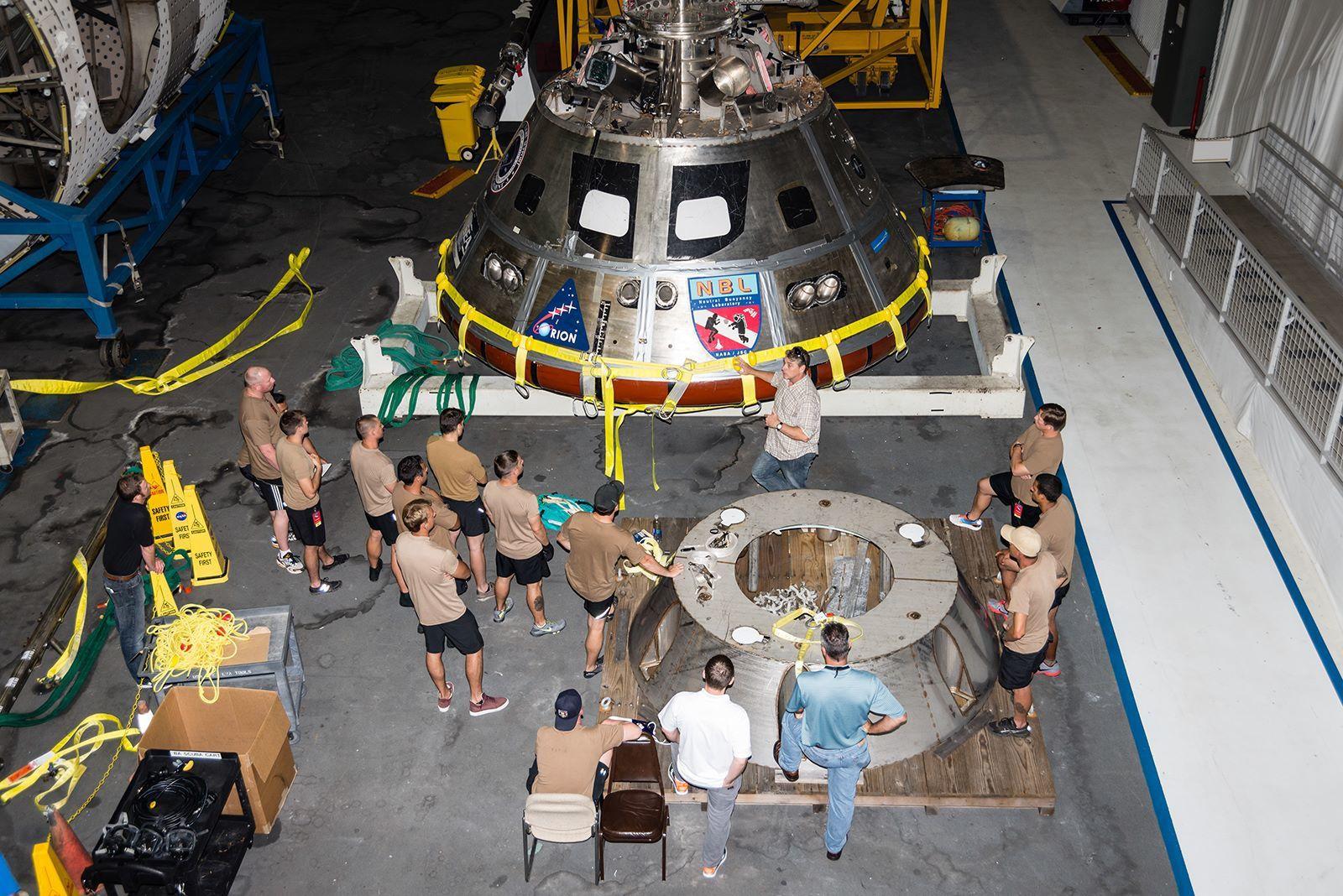 Essais d'une nouvelle procédure de récupération d'Orion