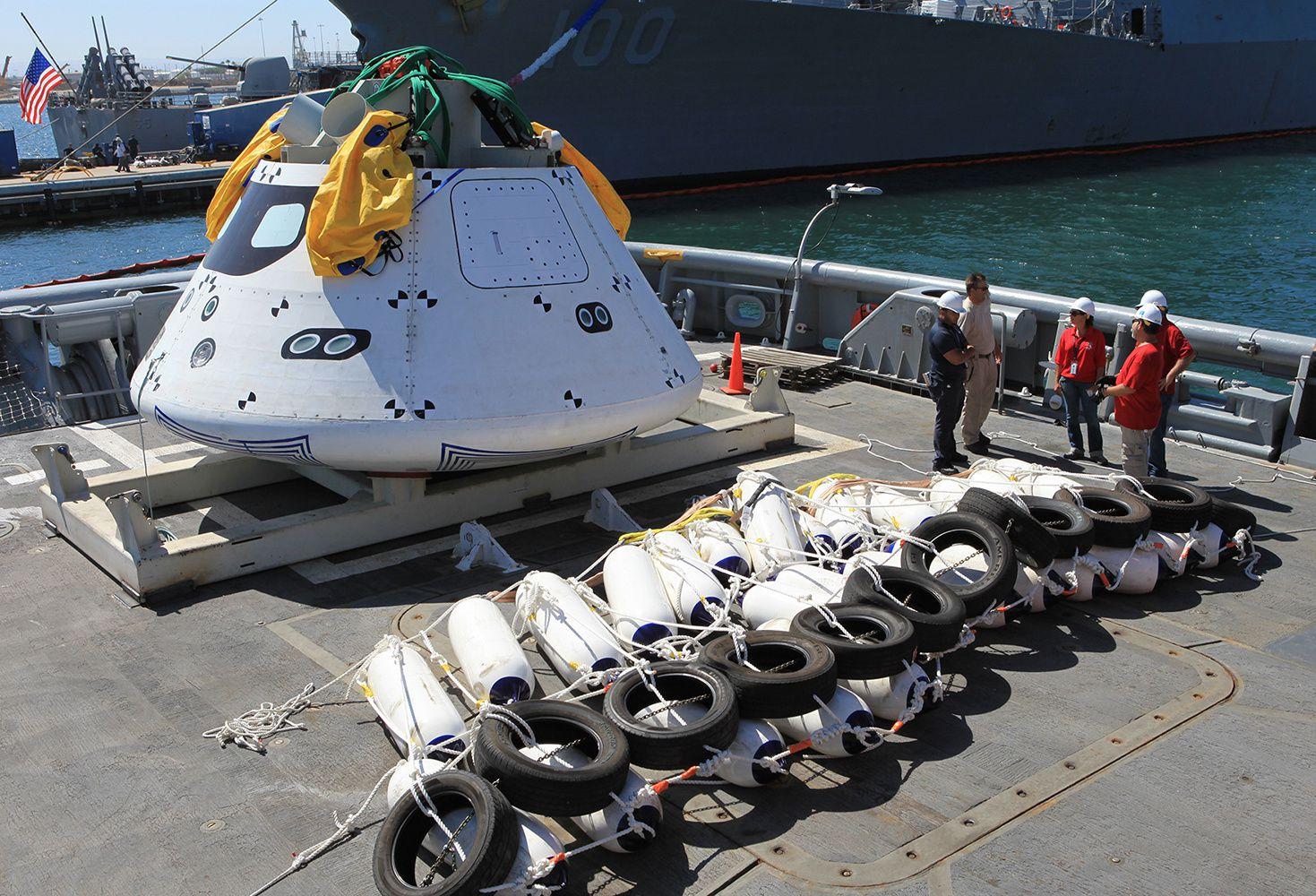 Nouveaux tests de récupération en pleine mer.