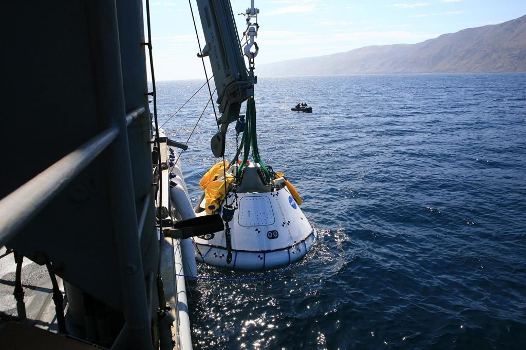 Underway Recovery Test (URT-3).