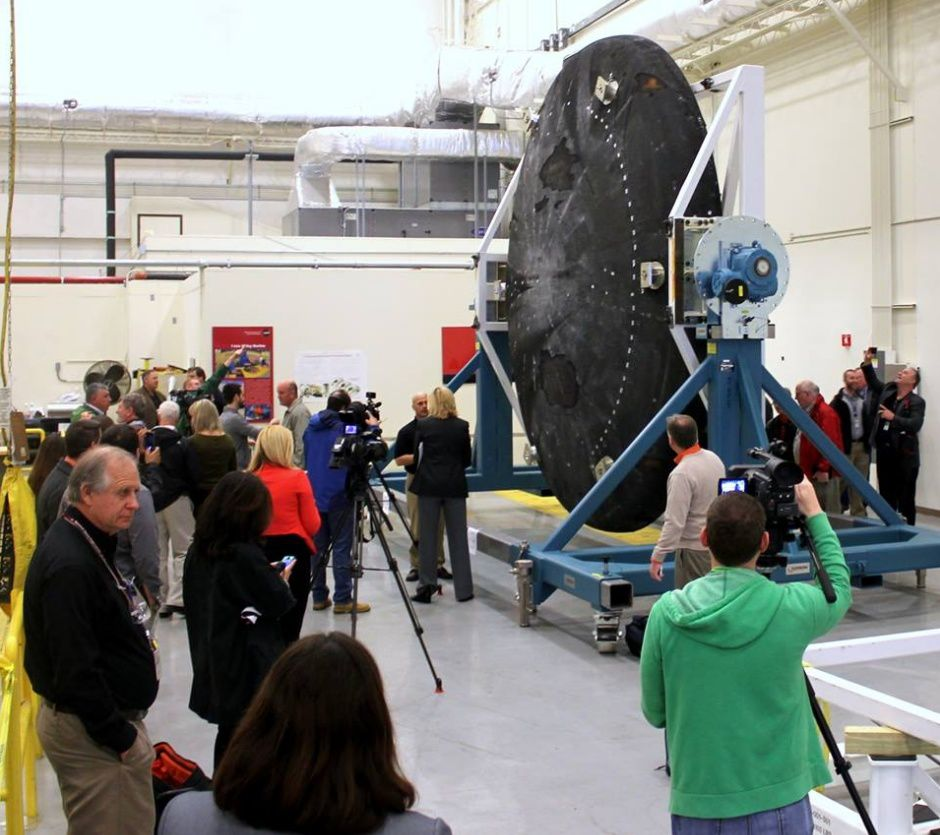 Le bouclier de retour au Marshall Space Flight Center