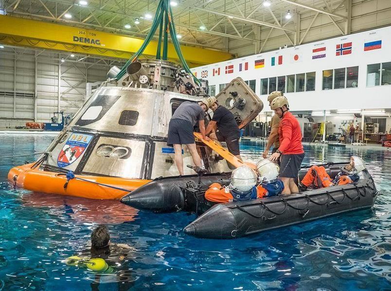 La NASA teste les procédures de sortie de l'équipage du vaisseau Orion