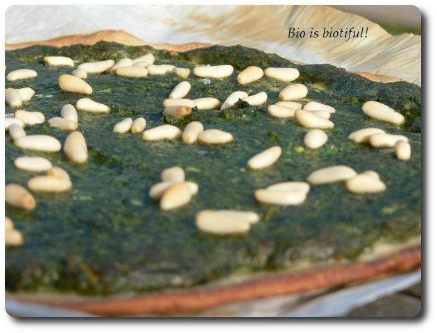 Pizza verde aux feuilles de blettes