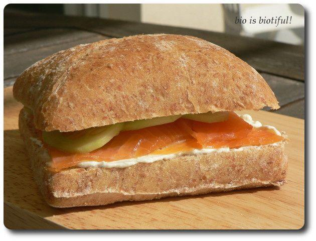 Sandwich breton à la truite fumée...