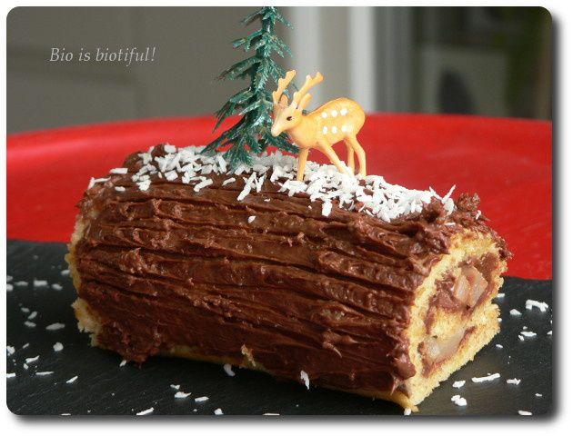 Mini-bûches poire-chocolat
