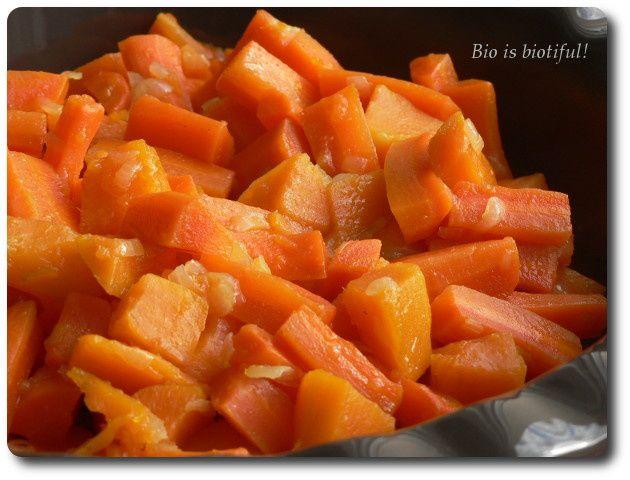 Cocotte de carottes et patates douces confites