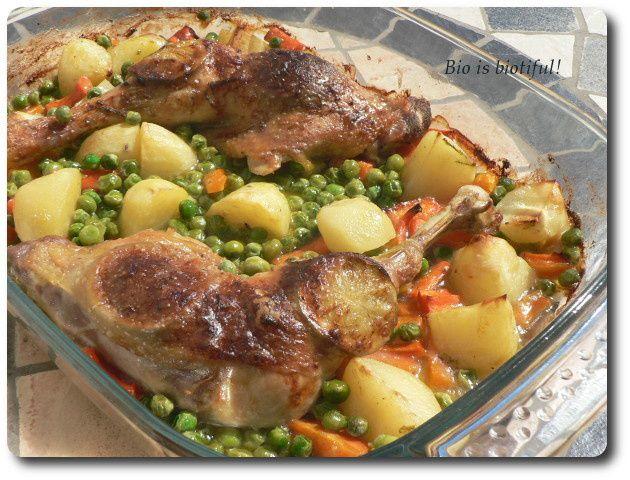 Cuisses de poulet et légumes à la crème de coco et citron vert