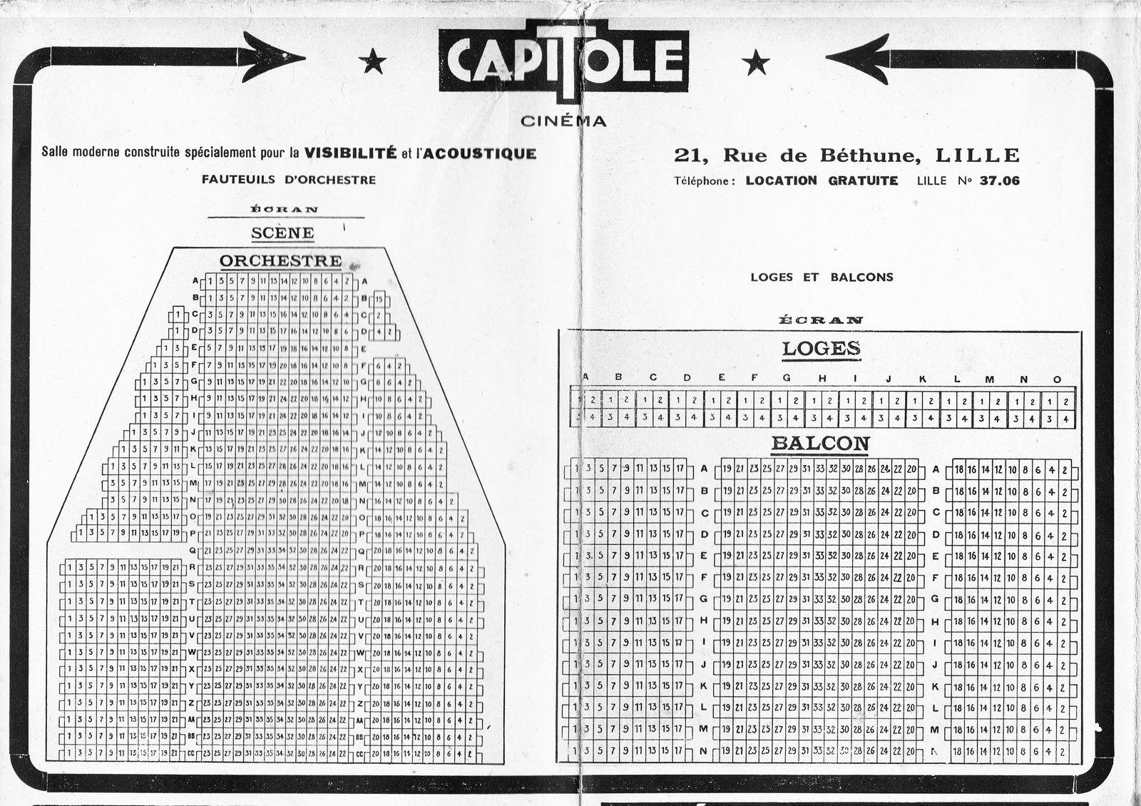 Le plan du Capitole à Lille