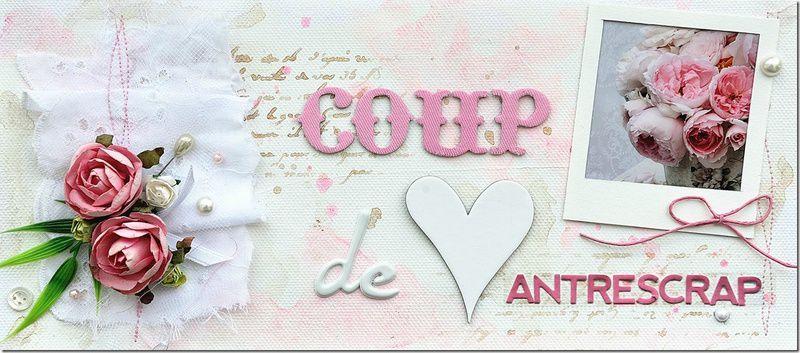 Ma carte fête des mères élu coup de coeur du blog l'Antrescrap!!