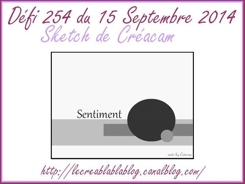 Ma carte pour le défi 254 du Creablablablog + surpriiiiiiiiiiise!!!