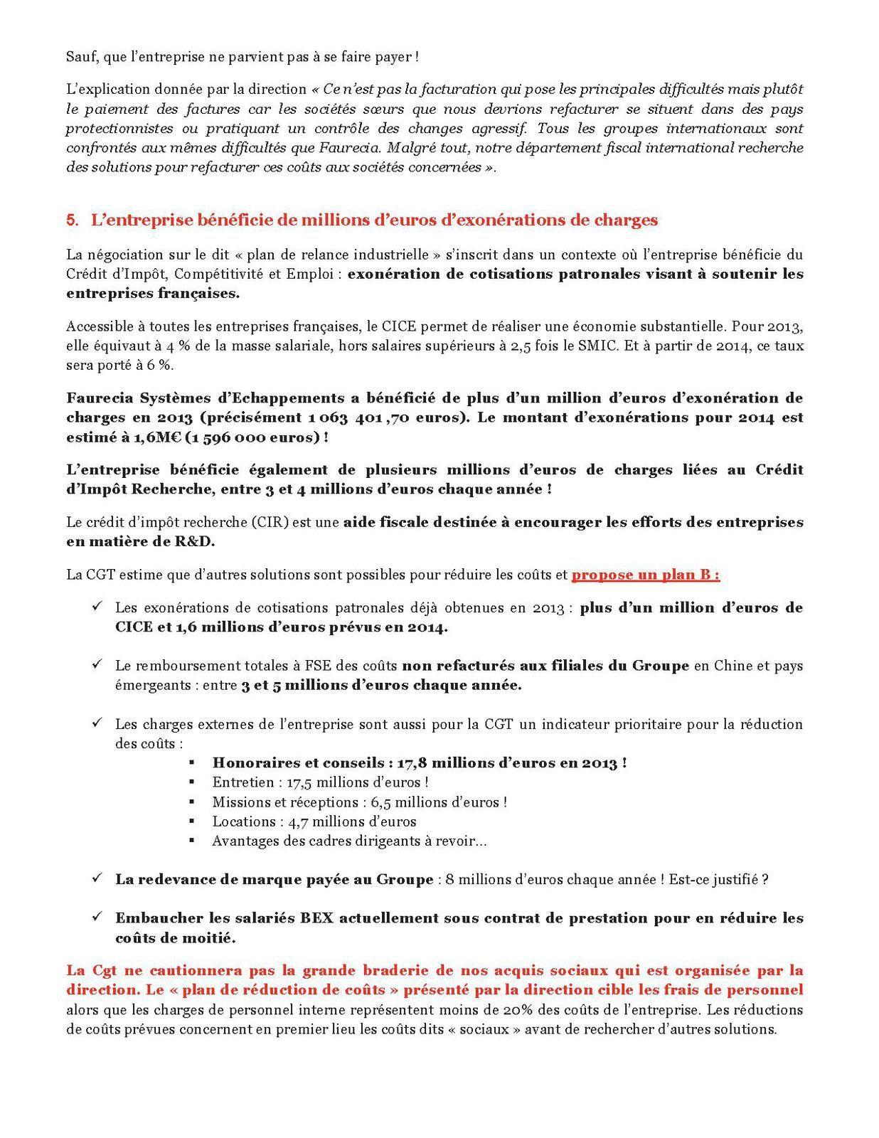 Communiqué CGT au Plan de Relance Industrielle de FSE