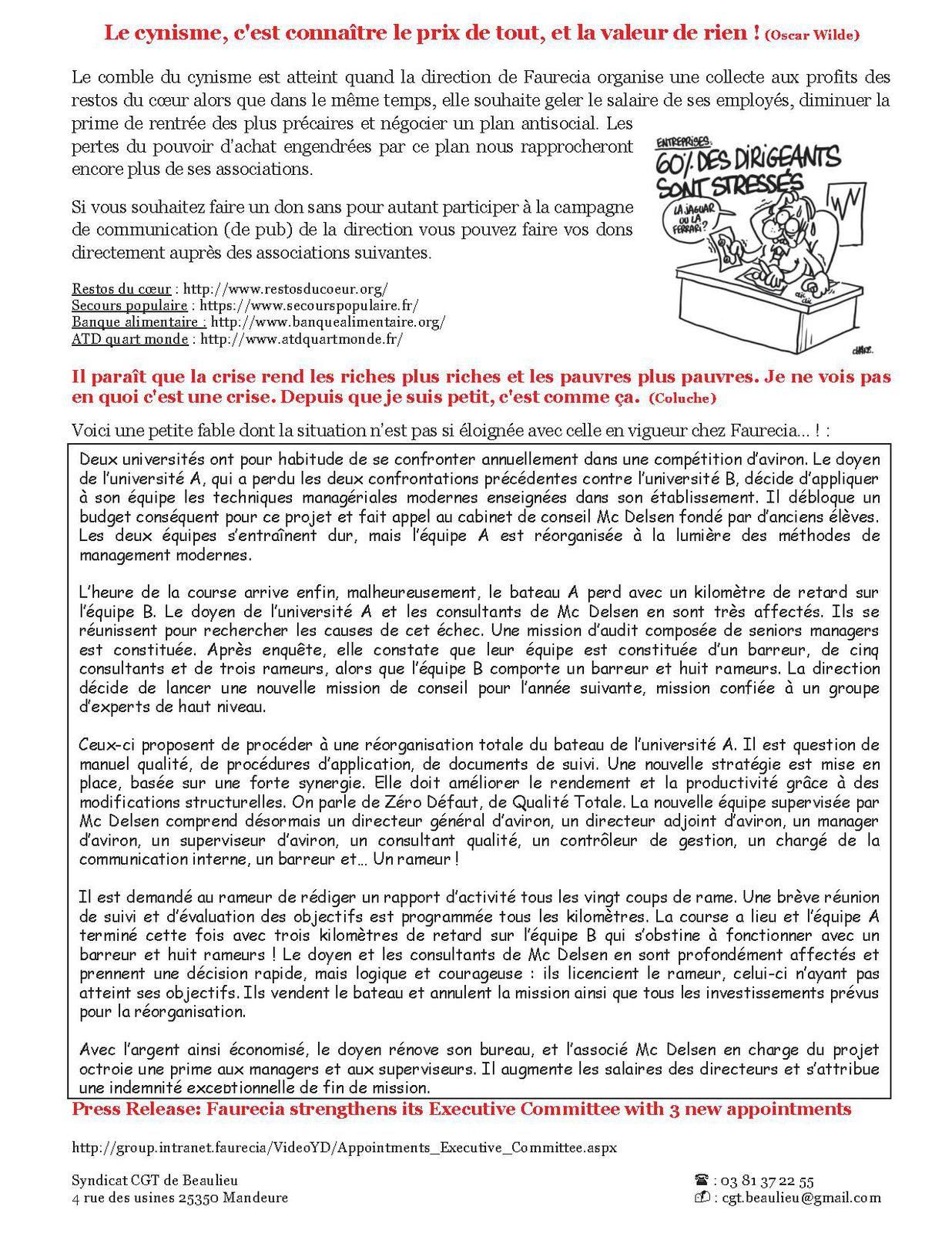 Accord de compétitivité FSE: 5ème réunion