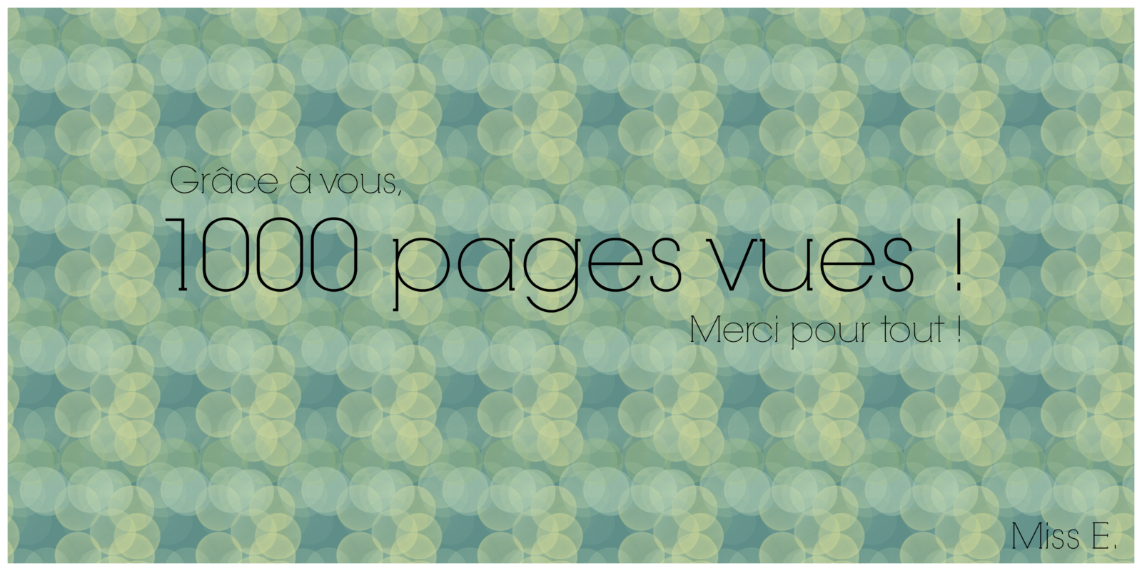1000 pages vues !