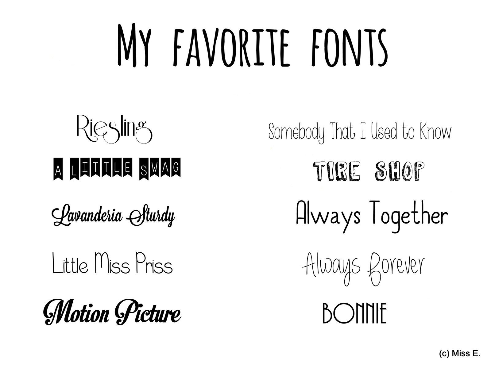 My favorite fonts ♥
