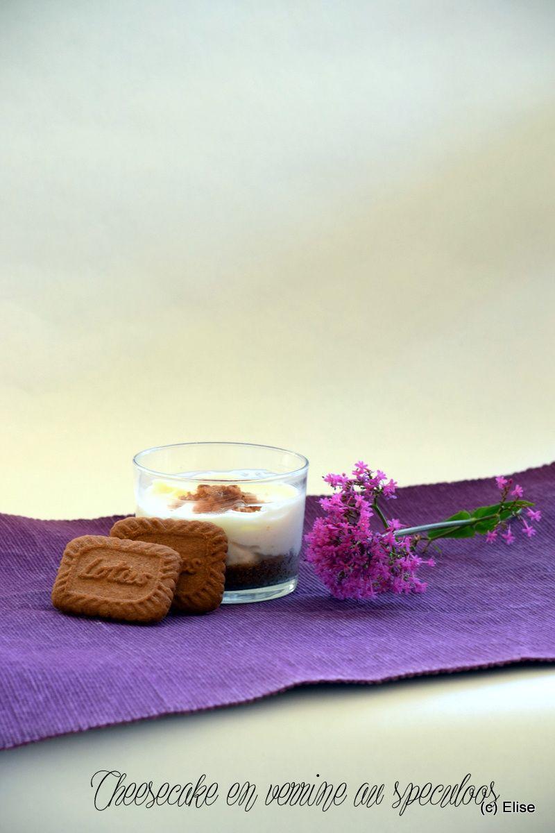 Cheesecake en verrines au speculoos (sans cuisson)
