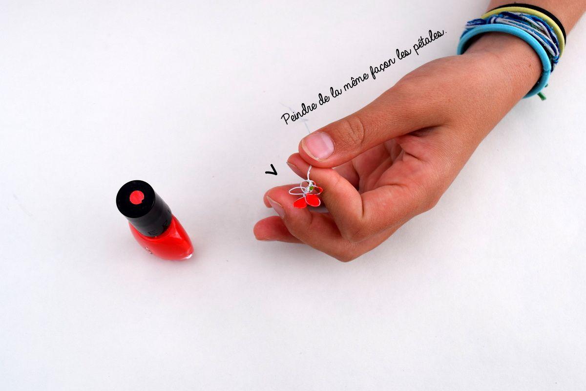 DIY : Fleurs en fil de fer et vernis à ongles