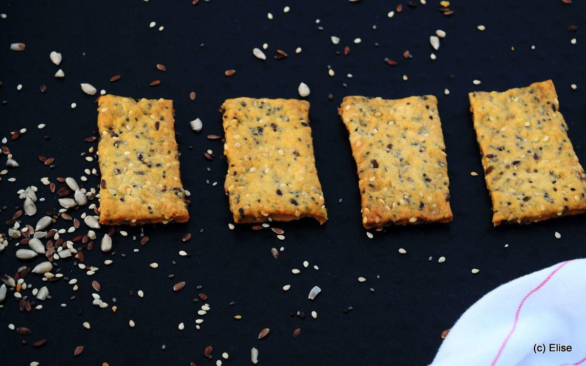 Crackers maison aux graines