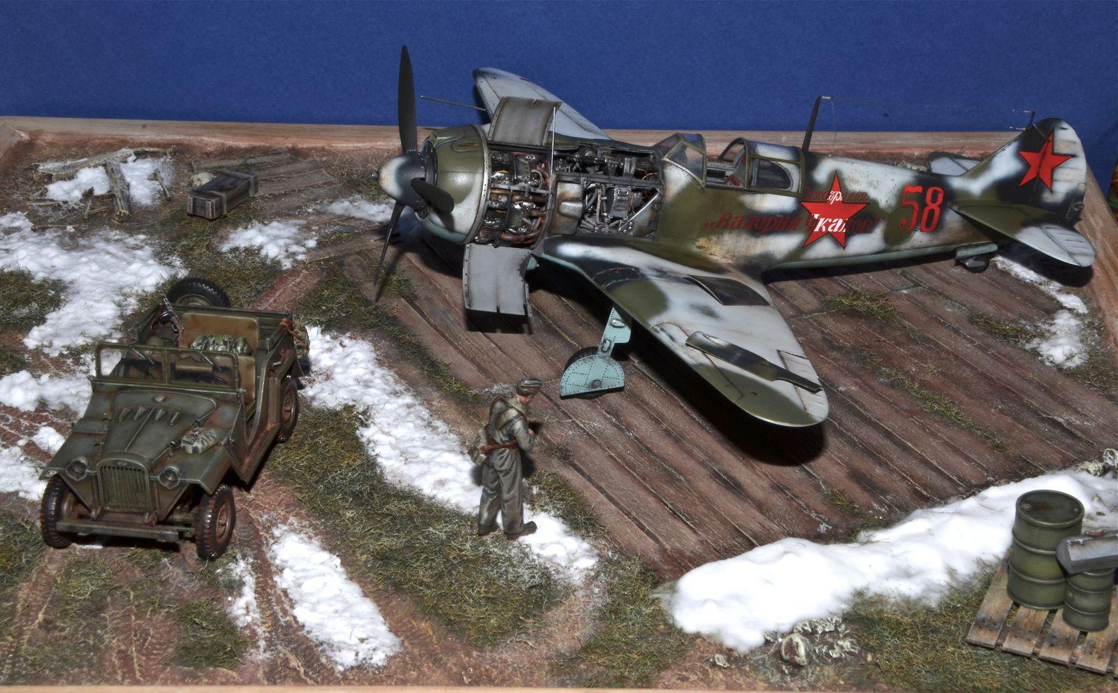 DIORAMA 1/48 - La5 + GAZ 67B - Fin de l'hiver 1942 - 1943