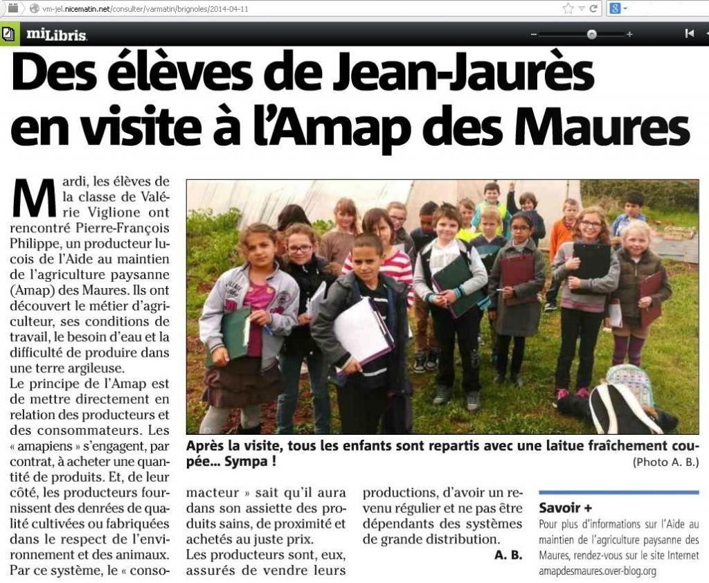 Des élèves à la Mounette, 11 avril 2014