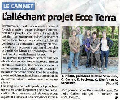 Projet ECCE TERRA au Cannet des Maures