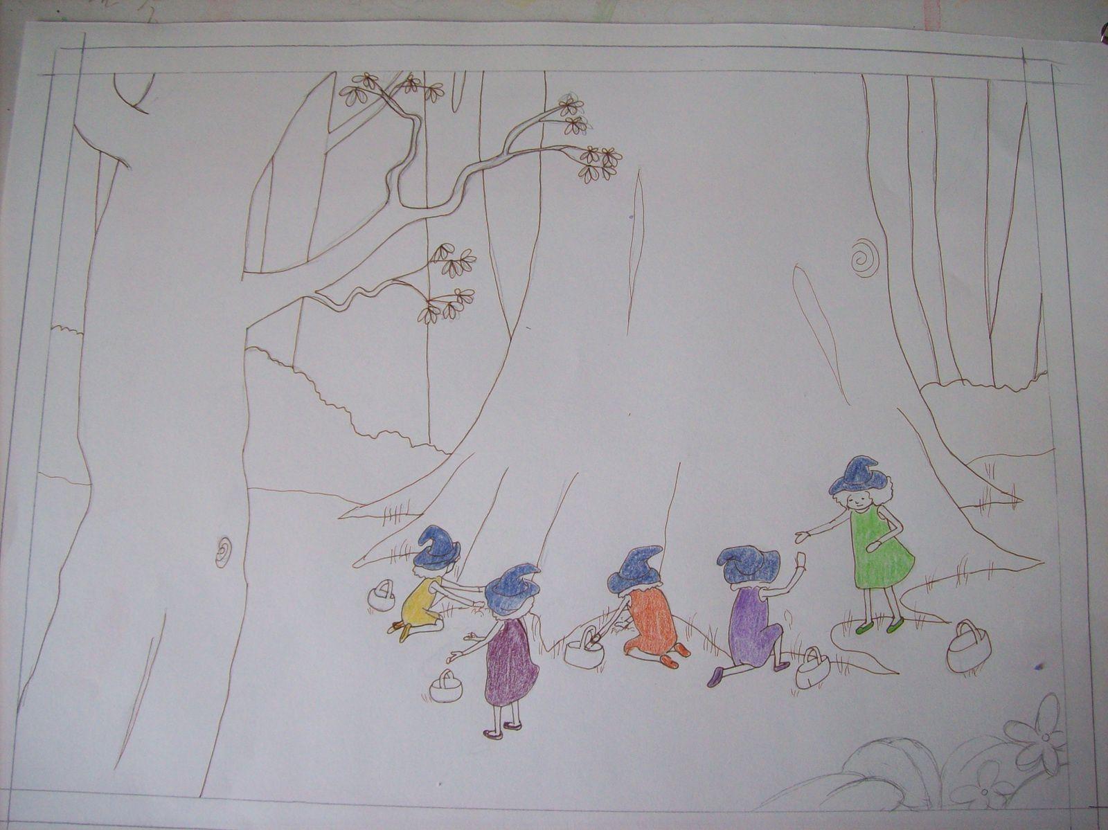 5 petites sorcières : seconde scène
