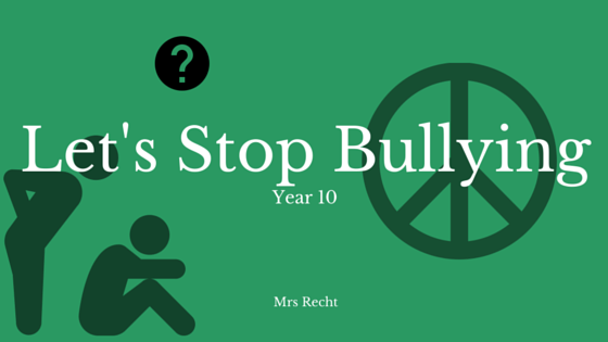Chapter 1 - Let's Stop Bullying