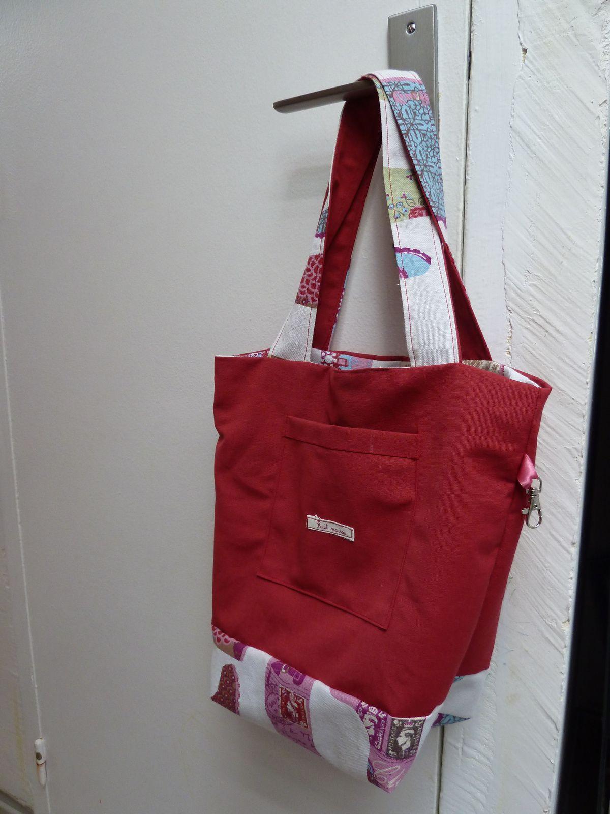 Tote-bag bicolore réversible