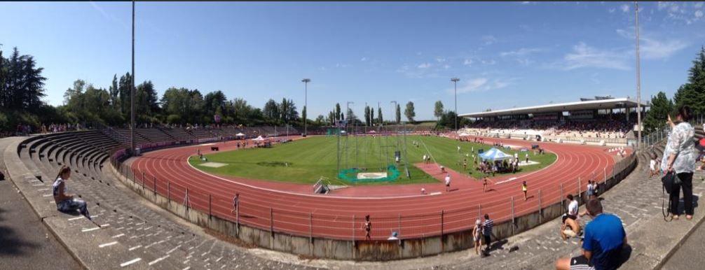 Estelle sur 100 m. Vice championne de France cadettes ce 18 juillet 2014 à Valence.
