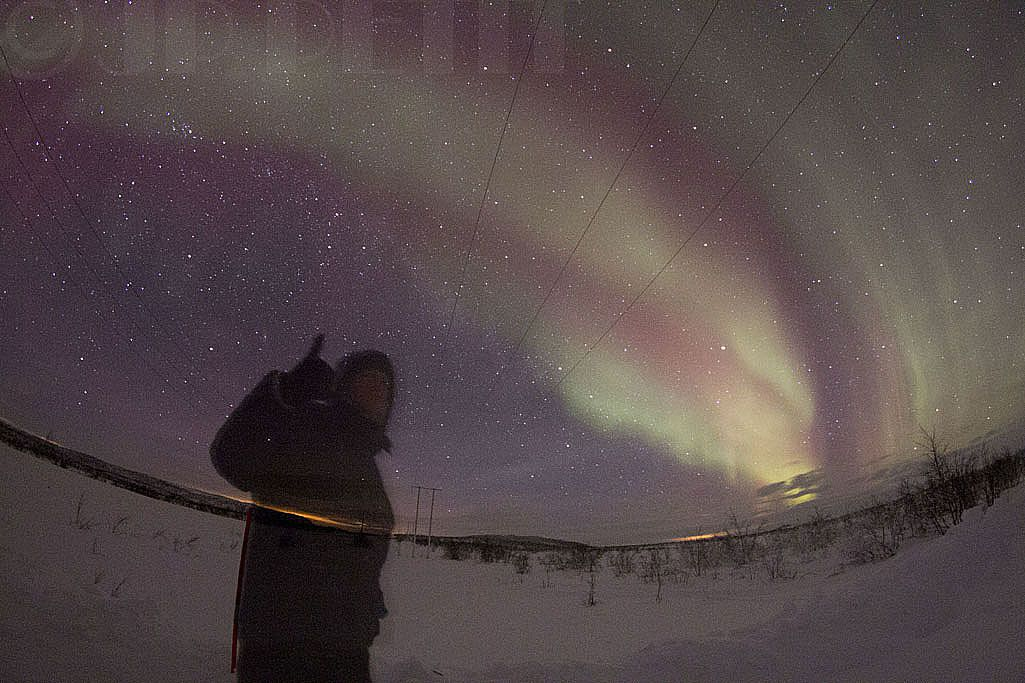 Chasing the Northern Lights... 2014 February , Lapland, Finland....