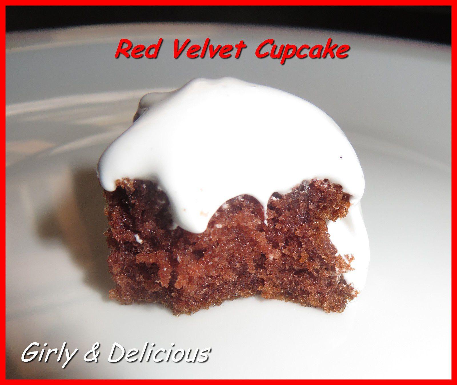 Red Velvet Cupcake et Frosting Vanille