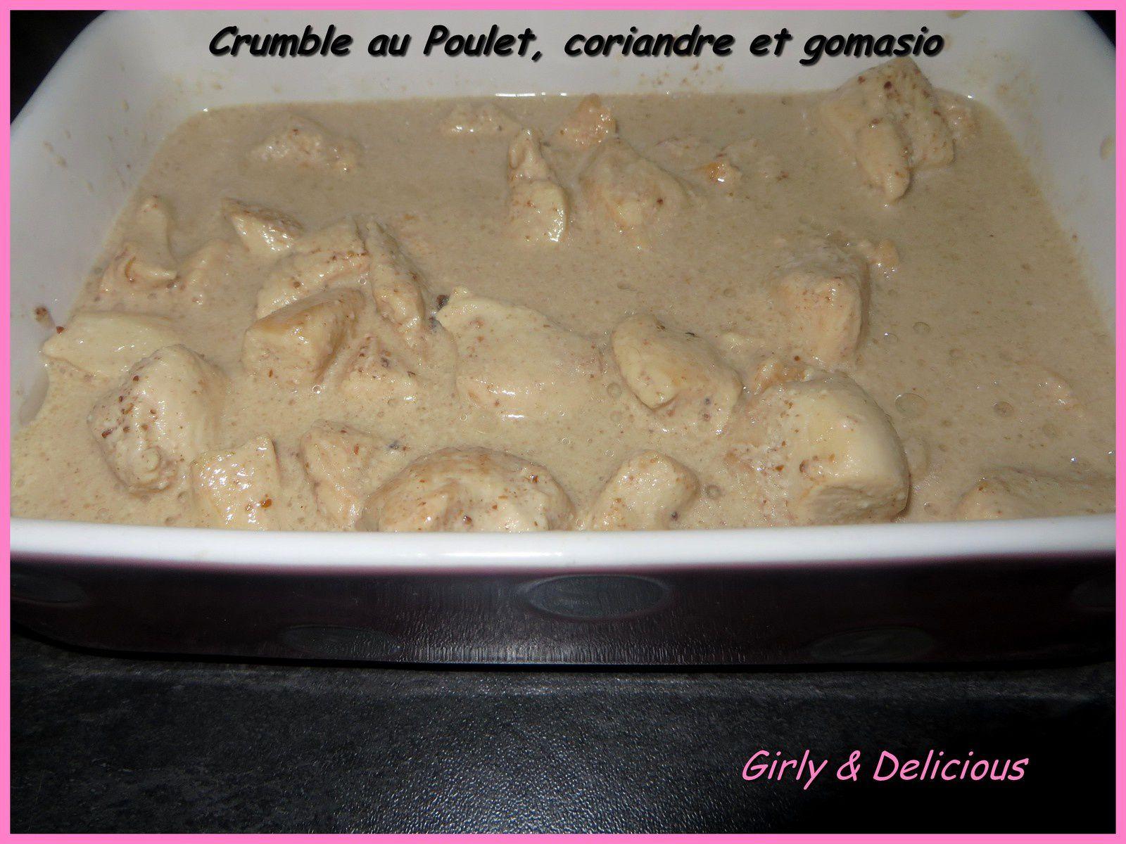 Crumble au poulet Coriandre et Gomasio