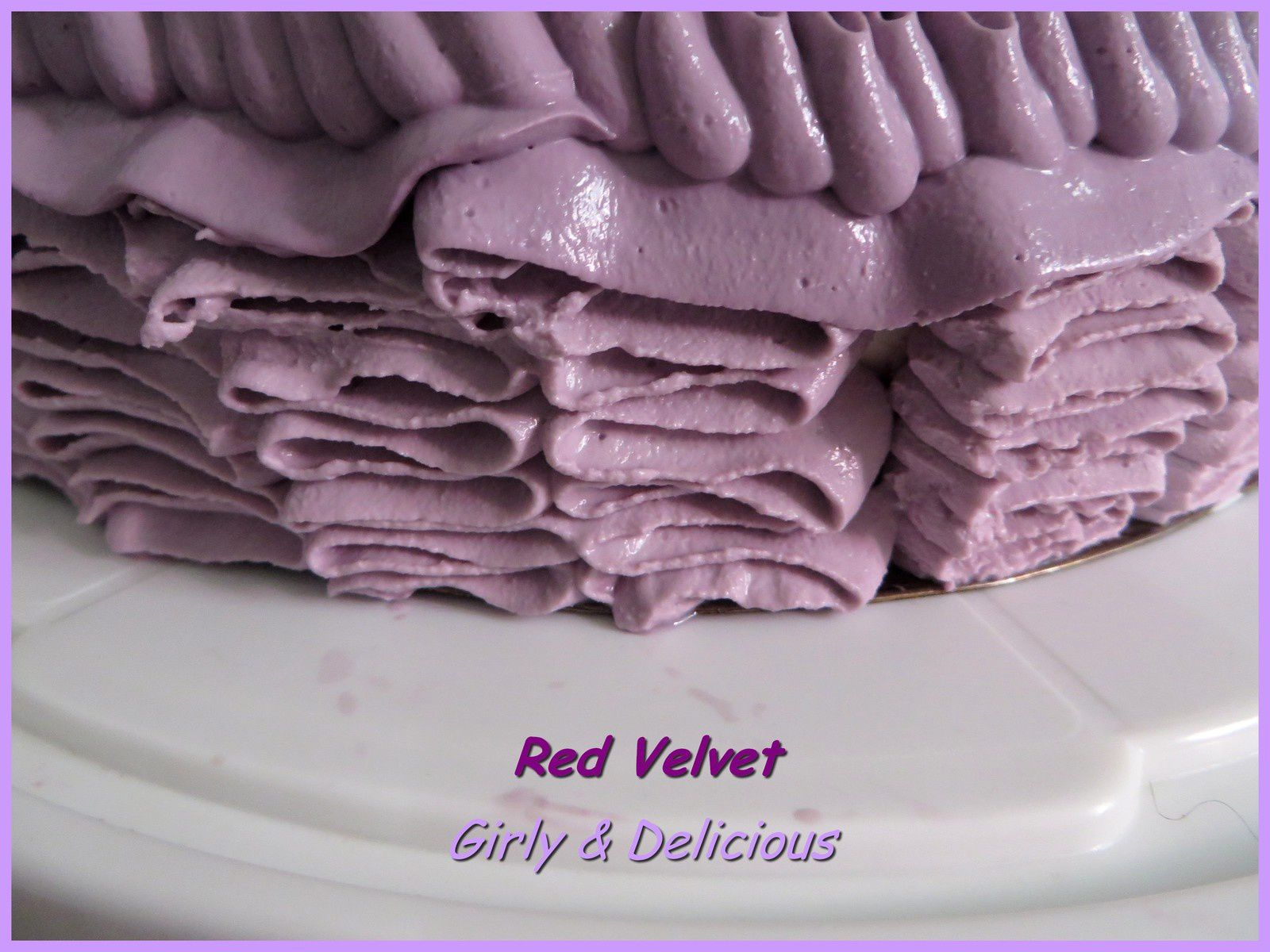 Pimp my cake : Red Velvet Layer Ruffle cake (Gâteau froufrou)
