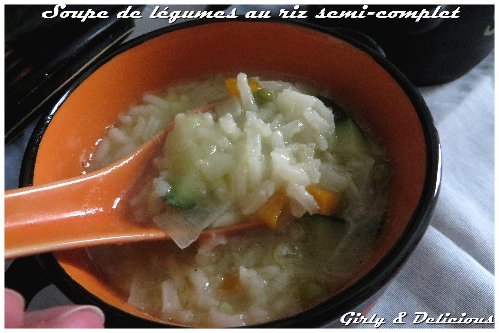 Soupe de légumes au riz semi-complet