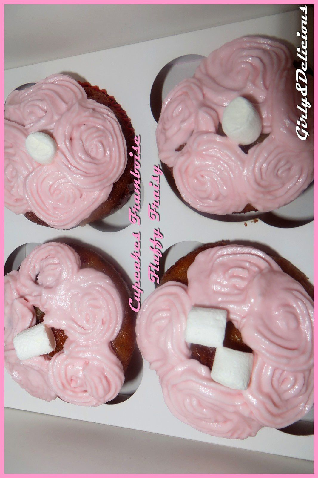 Cupcake Framboise Fluffy Fraisy